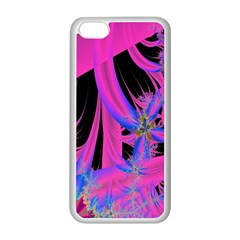 Fractal In Bright Pink And Blue Apple Iphone 5c Seamless Case (white) by Simbadda