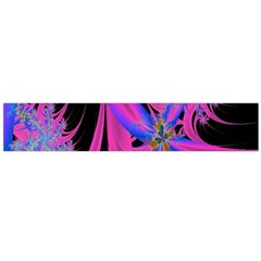 Fractal In Bright Pink And Blue Flano Scarf (large)