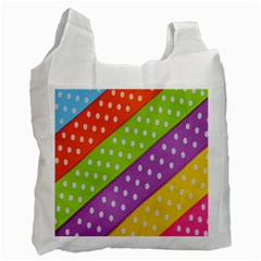 Colorful Easter Ribbon Background Recycle Bag (two Side)
