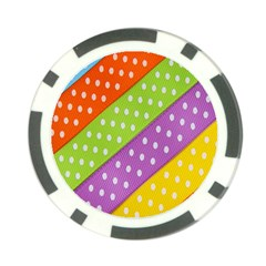 Colorful Easter Ribbon Background Poker Chip Card Guard (10 Pack) by Simbadda
