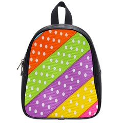 Colorful Easter Ribbon Background School Bags (small)