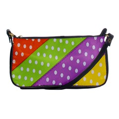 Colorful Easter Ribbon Background Shoulder Clutch Bags