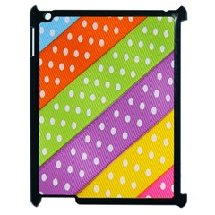 Colorful Easter Ribbon Background Apple Ipad 2 Case (black) by Simbadda