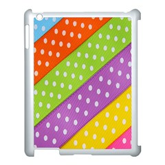 Colorful Easter Ribbon Background Apple Ipad 3/4 Case (white) by Simbadda