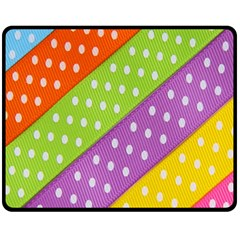 Colorful Easter Ribbon Background Double Sided Fleece Blanket (medium)