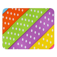 Colorful Easter Ribbon Background Double Sided Flano Blanket (large)