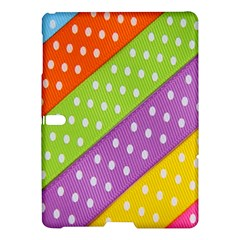 Colorful Easter Ribbon Background Samsung Galaxy Tab S (10 5 ) Hardshell Case  by Simbadda