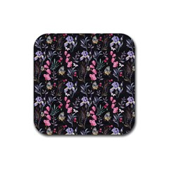 Wildflowers I Rubber Square Coaster (4 Pack)