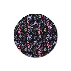 Wildflowers I Rubber Round Coaster (4 Pack)  by tarastyle