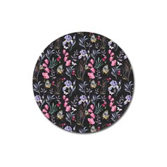 Wildflowers I Magnet 3  (round) by tarastyle