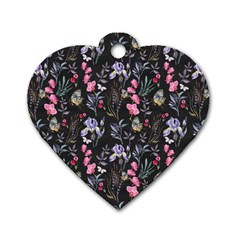 Wildflowers I Dog Tag Heart (one Side)