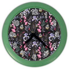 Wildflowers I Color Wall Clocks by tarastyle