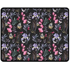 Wildflowers I Fleece Blanket (medium)