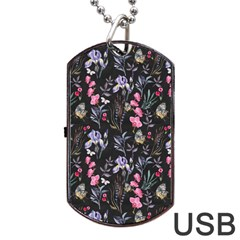 Wildflowers I Dog Tag Usb Flash (two Sides)