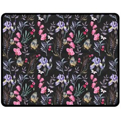 Wildflowers I Double Sided Fleece Blanket (medium)