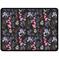Wildflowers I Double Sided Fleece Blanket (large)