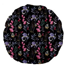 Wildflowers I Large 18  Premium Flano Round Cushions