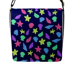 Shells Flap Messenger Bag (l)  by BubbSnugg