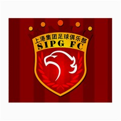 Shanghai Sipg F C  Small Glasses Cloth by Valentinaart