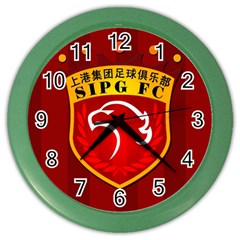 Shanghai Sipg F C  Color Wall Clocks by Valentinaart