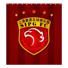 Shanghai Sipg F C  Shower Curtain 66  X 72  (large)  by Valentinaart