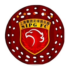 Shanghai Sipg F C  Round Filigree Ornament (two Sides) by Valentinaart