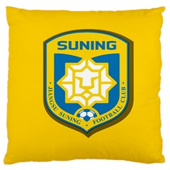 Jiangsu Suning F C  Large Cushion Case (one Side) by Valentinaart