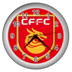 Hebei China Fortune F C  Wall Clocks (silver)  by Valentinaart