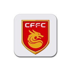 Hebei China Fortune F C  Rubber Coaster (square)  by Valentinaart