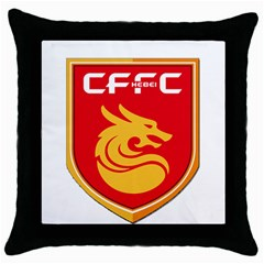 Hebei China Fortune F C  Throw Pillow Case (black) by Valentinaart