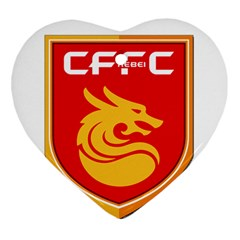 Hebei China Fortune F C  Heart Ornament (two Sides) by Valentinaart
