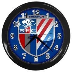 Shanghai Greenland Shenhua F C  Wall Clocks (black) by Valentinaart