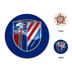 Shanghai Greenland Shenhua F C  Playing Cards (round)  by Valentinaart