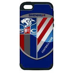 Shanghai Greenland Shenhua F C  Apple Iphone 5 Hardshell Case (pc+silicone) by Valentinaart