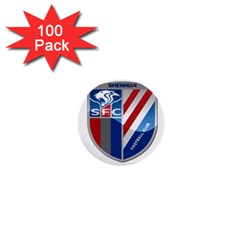 Shanghai Greenland Shenhua F C  1  Mini Buttons (100 Pack)  by Valentinaart