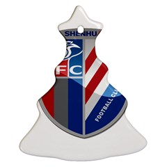 Shanghai Greenland Shenhua F C  Christmas Tree Ornament (two Sides) by Valentinaart