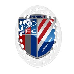 Shanghai Greenland Shenhua F C  Oval Filigree Ornament (two Sides) by Valentinaart
