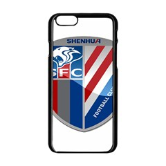 Shanghai Greenland Shenhua F C  Apple Iphone 6/6s Black Enamel Case by Valentinaart