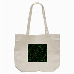 Fractal Drawing Green Spirals Tote Bag (cream)