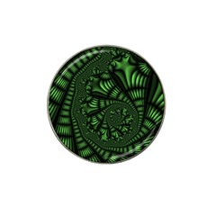 Fractal Drawing Green Spirals Hat Clip Ball Marker (10 Pack) by Simbadda