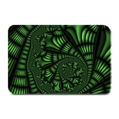 Fractal Drawing Green Spirals Plate Mats by Simbadda
