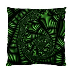 Fractal Drawing Green Spirals Standard Cushion Case (one Side) by Simbadda