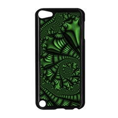 Fractal Drawing Green Spirals Apple Ipod Touch 5 Case (black) by Simbadda
