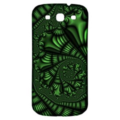 Fractal Drawing Green Spirals Samsung Galaxy S3 S Iii Classic Hardshell Back Case by Simbadda