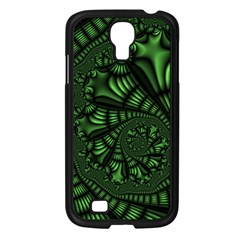 Fractal Drawing Green Spirals Samsung Galaxy S4 I9500/ I9505 Case (black) by Simbadda