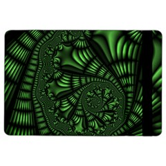 Fractal Drawing Green Spirals Ipad Air 2 Flip by Simbadda
