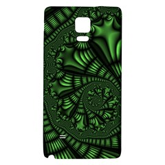 Fractal Drawing Green Spirals Galaxy Note 4 Back Case