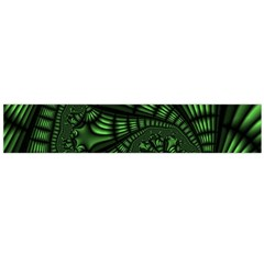Fractal Drawing Green Spirals Flano Scarf (large)