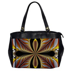 Fractal Yellow Butterfly In 3d Glass Frame Office Handbags