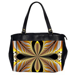 Fractal Yellow Butterfly In 3d Glass Frame Office Handbags (2 Sides)  by Simbadda